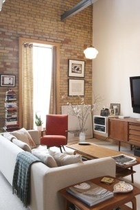 Adorable Exposed Brick Walls Bedrooms Design Ideas 19