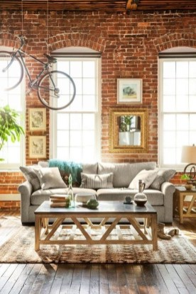 Adorable Exposed Brick Walls Bedrooms Design Ideas 31