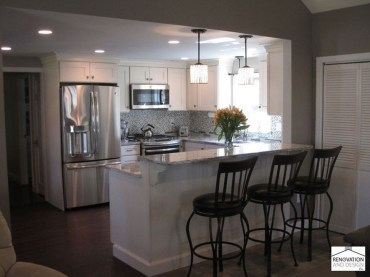 Astonishing U Shaped Kitchen Remodel Ideas 08