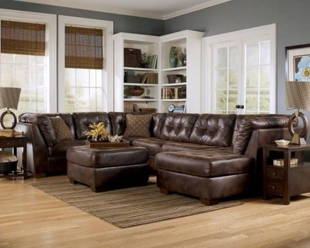 Beautiful Leather Couch Decorating Ideas For Living Room20