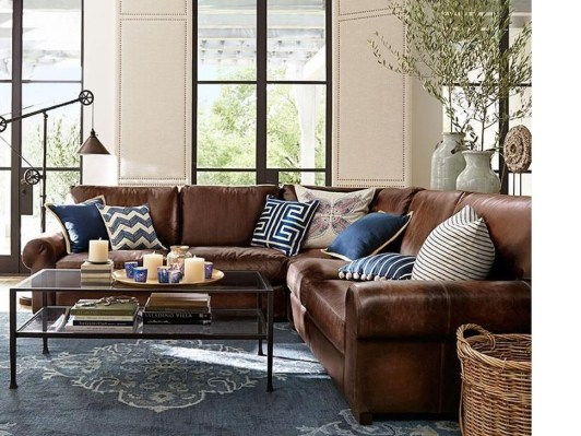 Beautiful Leather Couch Decorating Ideas For Living Room30