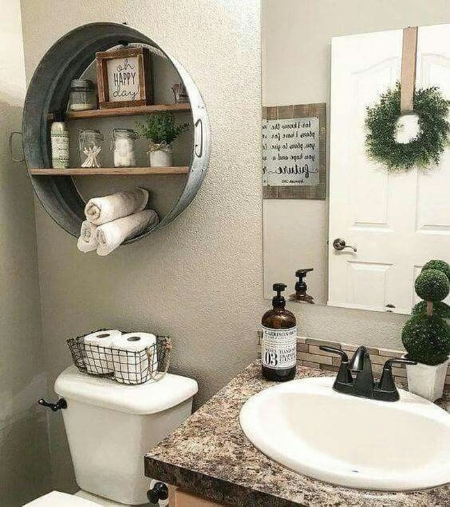 Best Modern Farmhouse Bathroom Decor Ideas 37