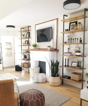 Cozy Modern Farmhouse Style Living Room Decor Ideas 15