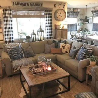 Cozy Modern Farmhouse Style Living Room Decor Ideas 45