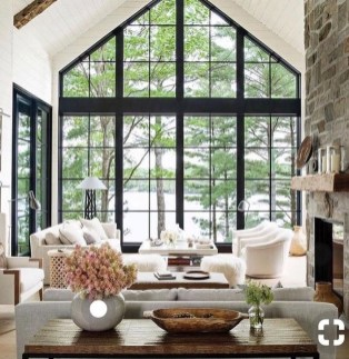 Cozy Modern Farmhouse Style Living Room Decor Ideas 47