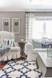 Gorgeous White And Blue Living Room Ideas For Modern Home 20