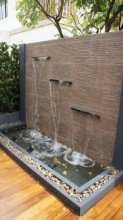 Amazing Modern Water Feature For Your Landscape08