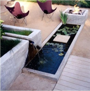 Amazing Modern Water Feature For Your Landscape33
