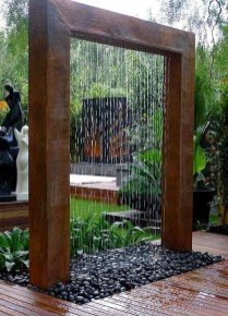 Amazing Modern Water Feature For Your Landscape43