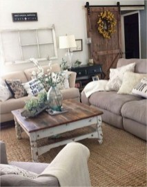 Fantastic Living Room Farmhouse Style Decorating Ideas 14