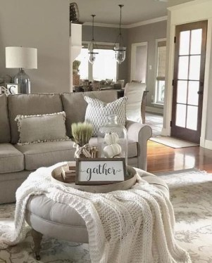Fantastic Living Room Farmhouse Style Decorating Ideas 22