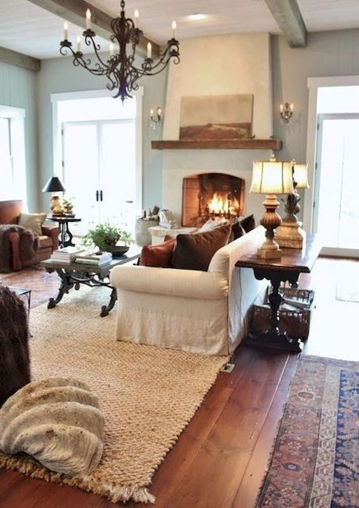 Fantastic Living Room Farmhouse Style Decorating Ideas 41