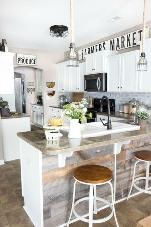 Popular Farmhouse Kitchen Island Decor Ideas17