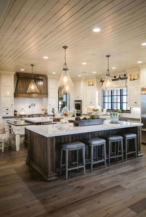 Popular Farmhouse Kitchen Island Decor Ideas18