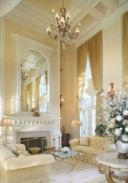 Popular French Country Living Room Decor Ideas 16