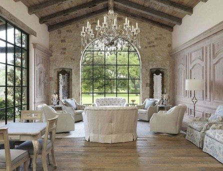 Popular French Country Living Room Decor Ideas 25