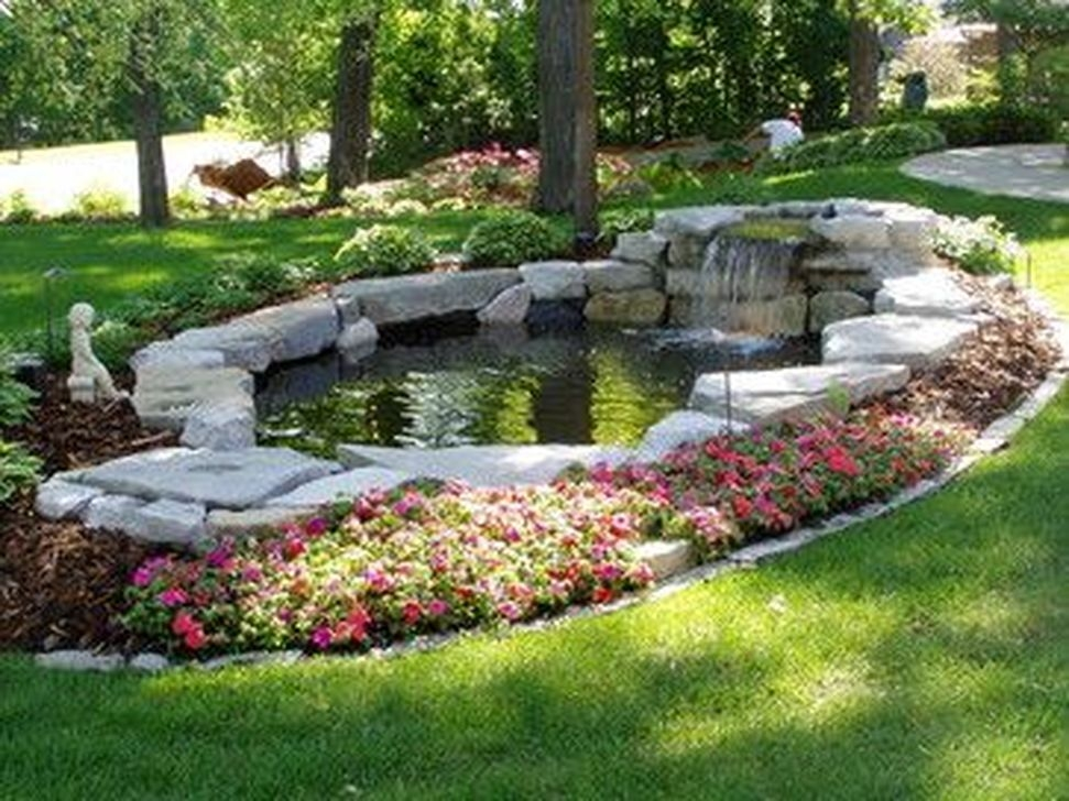 Pretty Backyard Pond Design Ideas40 Copy