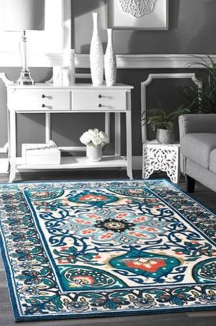 Romantic Floral Printed Rug Ideas To Beautify Your Floor18