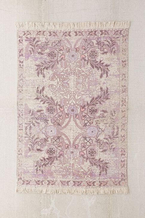 Romantic Floral Printed Rug Ideas To Beautify Your Floor20