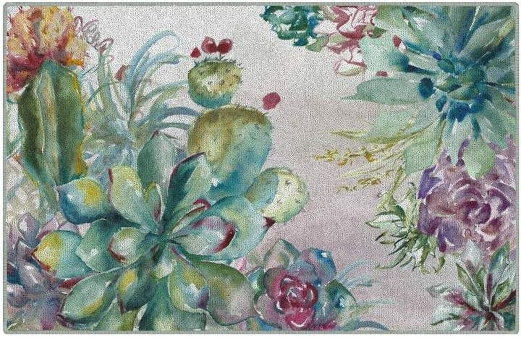 Romantic Floral Printed Rug Ideas To Beautify Your Floor40