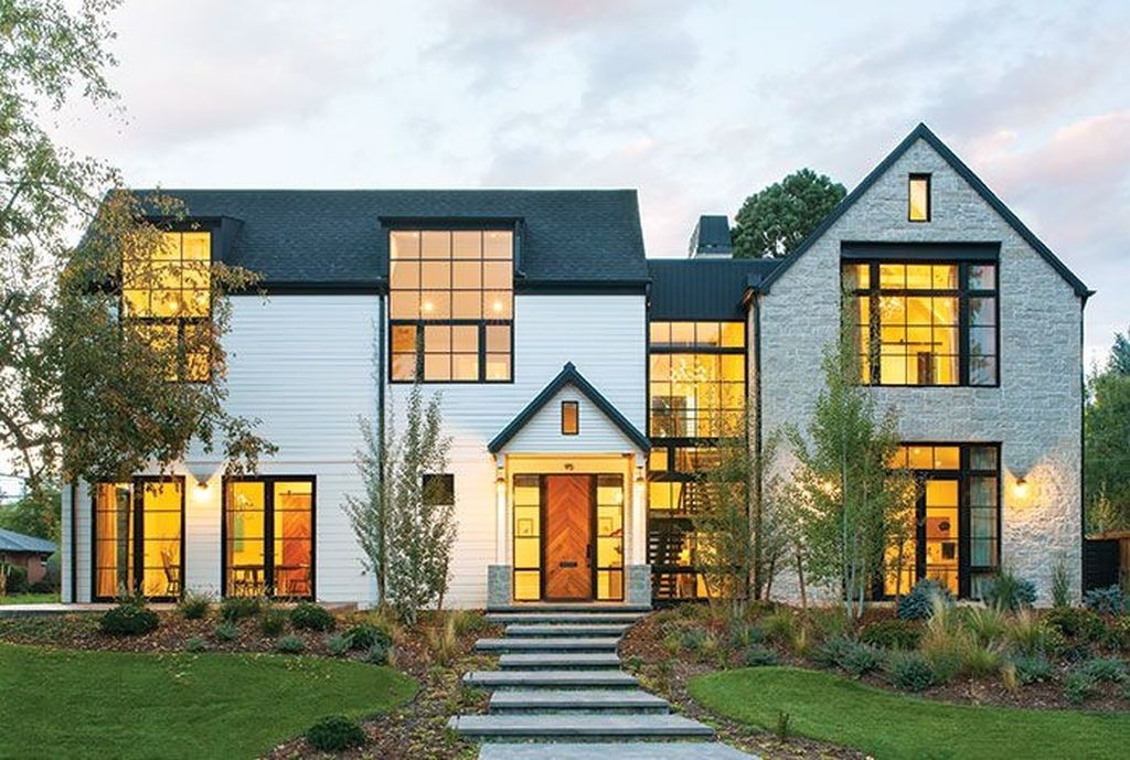 99 Brilliant Modern Farmhouse Exterior Design Ideas