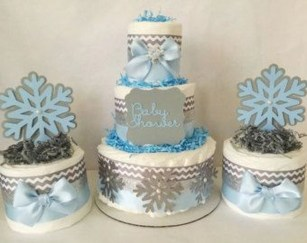 Charming Winter Themed Baby Shower Decoration Ideas28