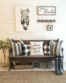 Creative Farmhouse Entryway Decorating Ideas12