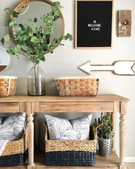Creative Farmhouse Entryway Decorating Ideas36