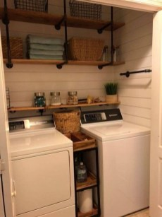 Popular Farmhouse Laundry Room Decorating Ideas20