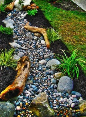 Pretty Front Yard Rock Garden And Landscaping Ideas02