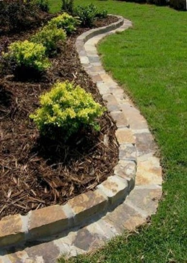 Pretty Front Yard Rock Garden And Landscaping Ideas07