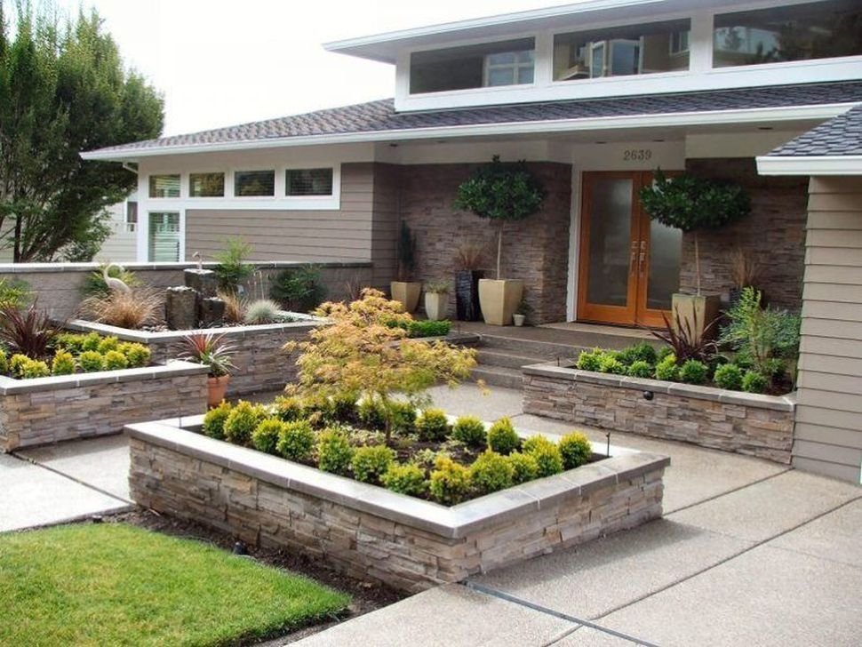 Pretty Front Yard Rock Garden And Landscaping Ideas19