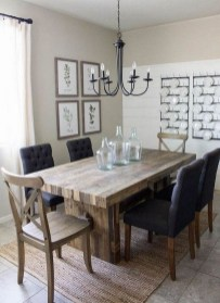 Romantic Rustic Farmhouse Dining Room Makeover Ideas16