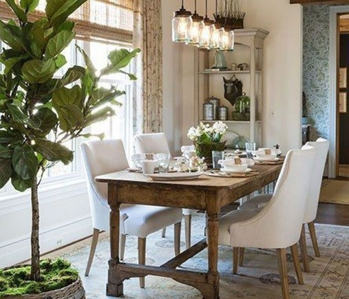 Romantic Rustic Farmhouse Dining Room Makeover Ideas26