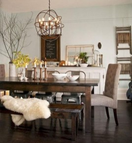 Romantic Rustic Farmhouse Dining Room Makeover Ideas30