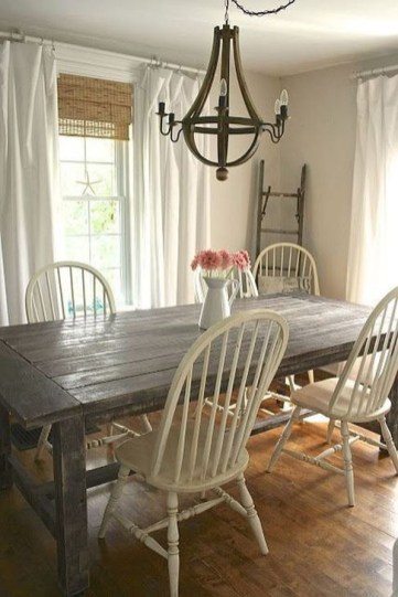 Romantic Rustic Farmhouse Dining Room Makeover Ideas34