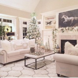 Comfy Christmas Living Room Decor Ideas19