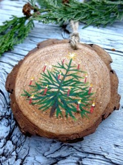 Gorgeous Rustic Christmas Tree Decoration Ideas12