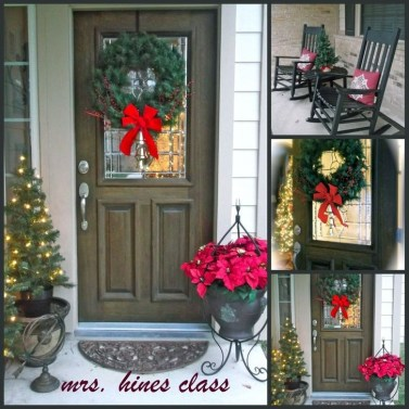 Lovely Christmas Porch Makeover Ideas18