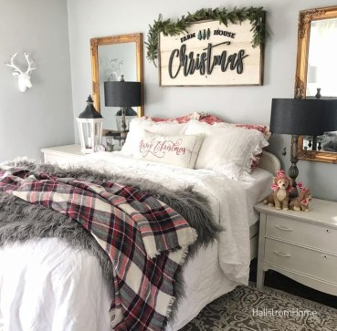Magnificient Christmas Lighting Bedroom Ideas41