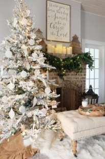 Modern Farmhouse Christmas Tree Ideas22