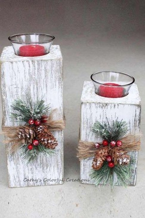 Romantic Rustic Christmas Decoration Ideas28
