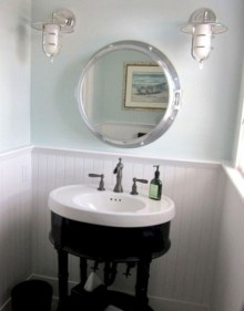 Cozy Coastal Style Nautical Bathroom Designs Ideas13