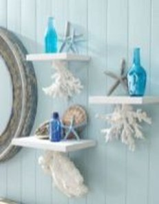 Cozy Coastal Style Nautical Bathroom Designs Ideas44