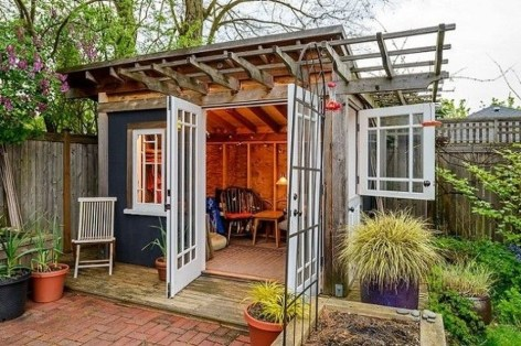 Fascinating Diy Backyard Studio Shed Remodel Design Decor Ideas31