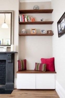 Stunning Diy Floating Shelves Living Room Decorating Ideas08