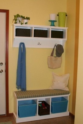 Awesome Rustic Mudroom Bench Decorating Ideas On A Budget26