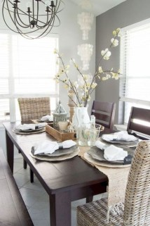 Captivating Farmhouse Dining Room Table Decorating Ideas16