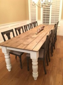 Captivating Farmhouse Dining Room Table Decorating Ideas42