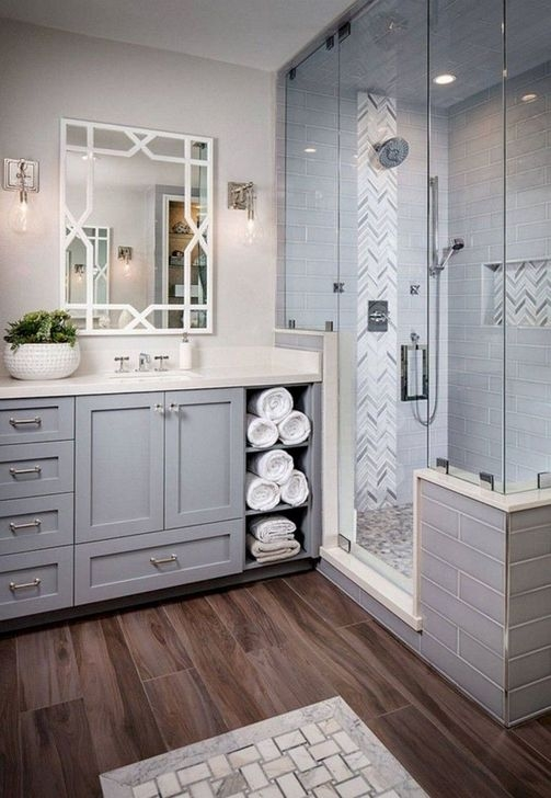 Cute Farmhouse Bathroom Remodel Ideas On A Budget18